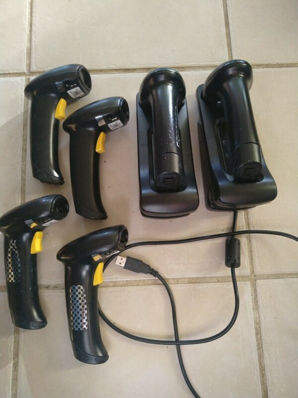 Lot of 6 CipherLab 1560P Wireless BarCode Scanner with 2 Charging Base