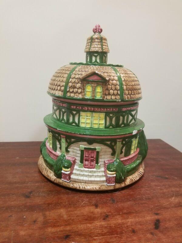 """12"""" R.H. Macy House Cookie Jar"""