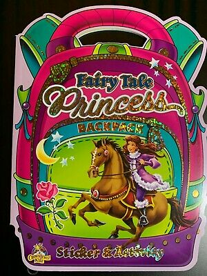 FAIRY TALE PRINCESS STICKER & ACTIVITY BACKPACK COLOR BOOK NEW CROWN JEWLZ KIDZ Fairy Tale Activity