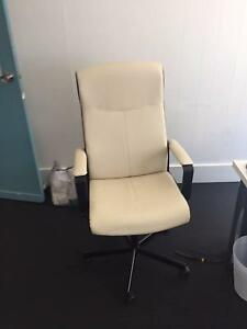 Office Chair - Nearly New, Cream Surfers Paradise Gold Coast City Preview