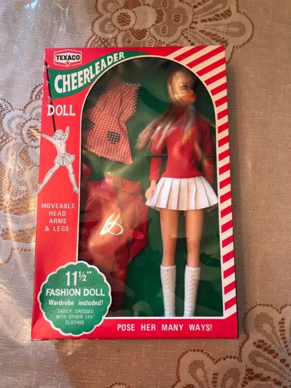 """TEXACO CHEERLEADER DOLL, NIB Vintage, 11 1/2"""" TALL with wardrobe"""