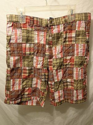 Madras Flat Front Short (Club Room Madras Plaid Flat Front SHORT SZ 34 Casual 10