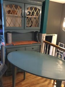 Soft jade desk & cabinet