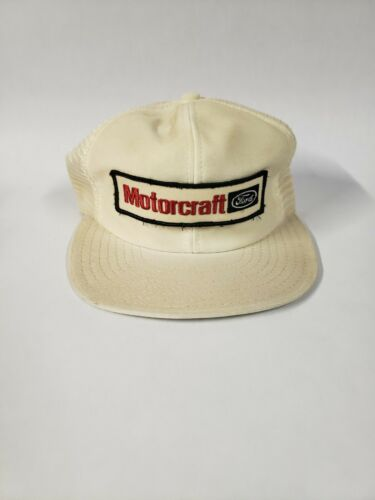 Vintage Ford Motorcraft Patch Snap Back Trucker Hat, Made is U.S.A.