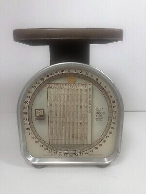 Vintage Pelouze Y-50 Mechanical Scale 50lb 2oz 1981