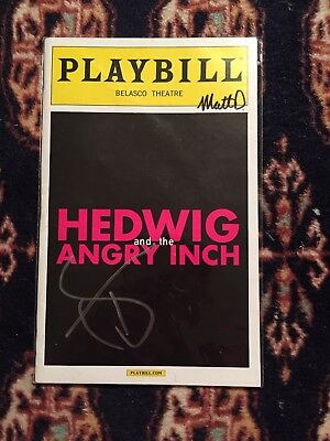 Taye Diggs Signed Hediwg And The Angry Inch Playbill