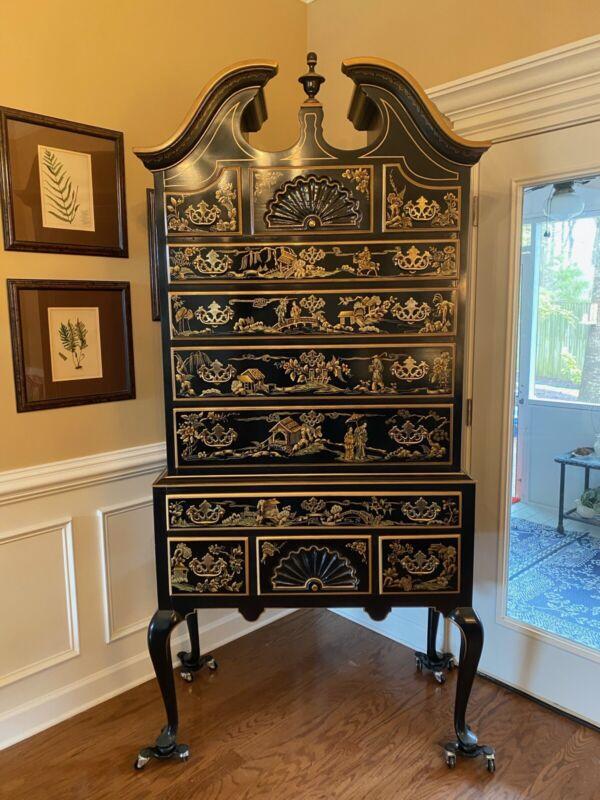 Drexel Chinoiserie Highboy Dresser