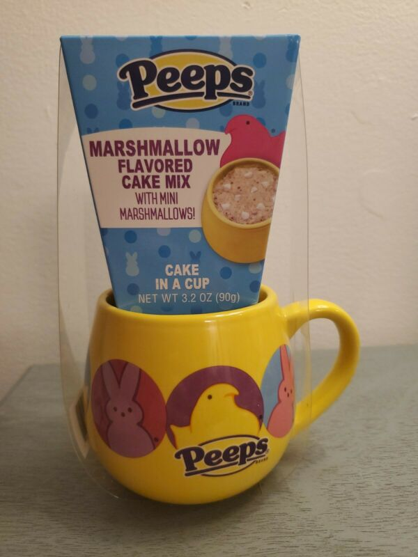 Collectible Gift Peeps Mug With Marshmallow Cake Mix (exp12/21)