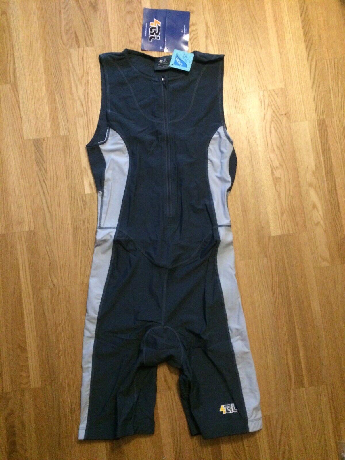 4TRI Triathlonanzug Herren Gr. L unverpackt Fitness Radler Overall Radlerbody