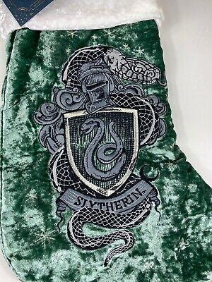 Pottery Barn Teen Harry Potter Slytherin Christmas Stocking ~No Monogram~ NEW
