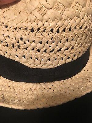 Jcrew Straw Panama Fedora Hat with black band