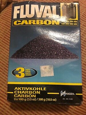 Fluval Activated Carbon 3x 100g Bags External Filter Media Fish Tank Supplies