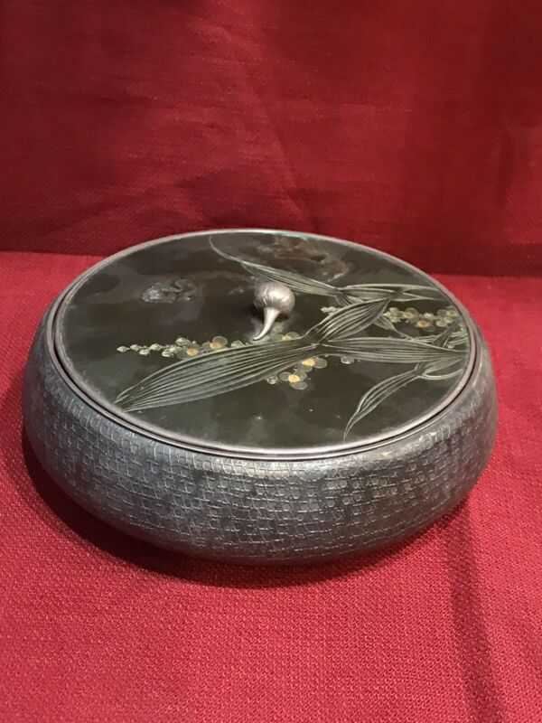 Brilliant Japanese Silver box With signature