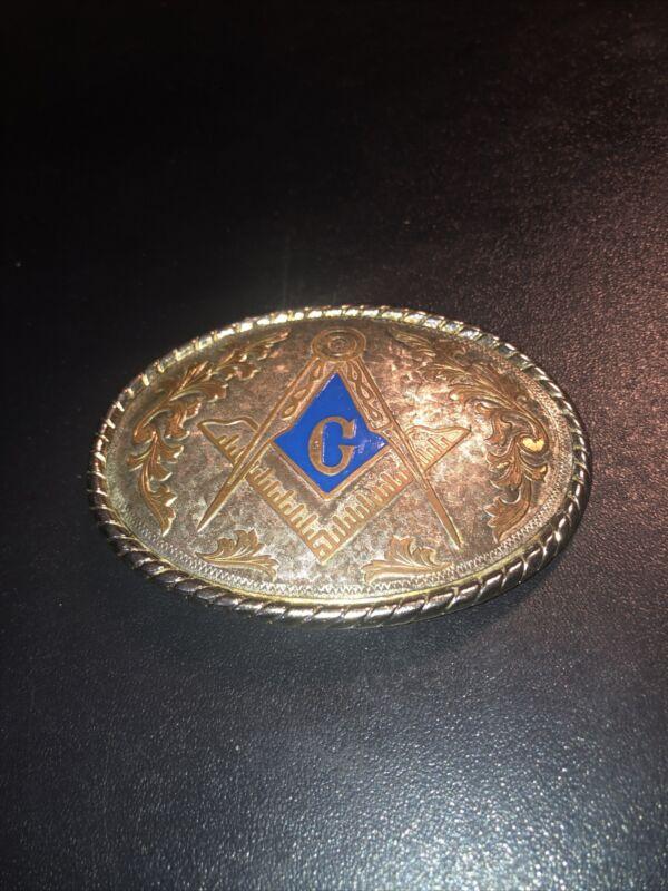 Masonic Belt Buckle Made In USA
