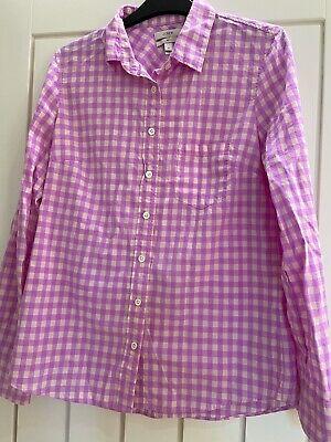J Crew Boy Fit Shirt Pink Gingham UK 8