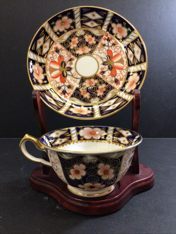 Large Royal Crown Derby Footed Coffee Tea Cup & Saucer Imari 2451 1 Of 10 Avail.