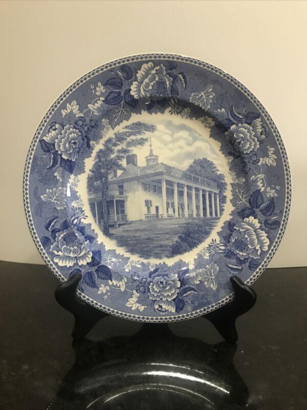 DAR Wedgwood Washington 1932 Bicentennial Plate-Mount Vernon