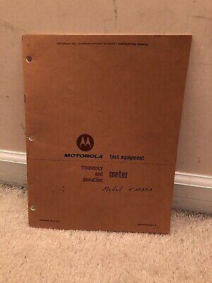 Motorola Test Equipment Meter Manual