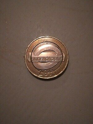 Very Rare London Underground Train Sign £2 Two Pound Coin - Circulated Condition