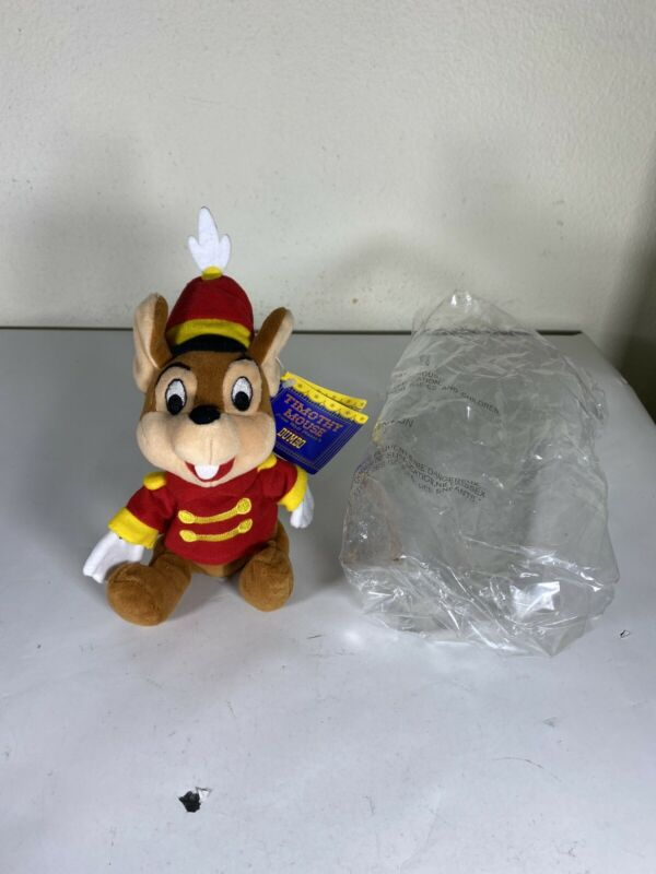 NWT Disney WDCC 1998 TIMOTHY MOUSE Beanie Plush Toy - DUMBO Open House Exclusive