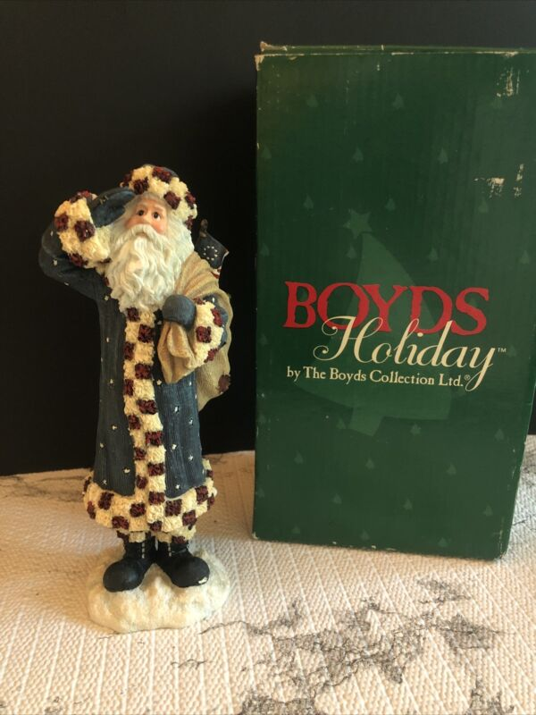 "Boyds Holiday Santa ""Franklin"" Figurine"