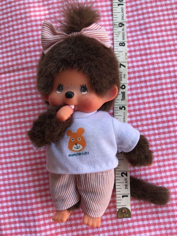 "Vintage Monchhichi Monchichi Sekiguchi Monkey Girl Doll 7+"" Bear T-shirt"