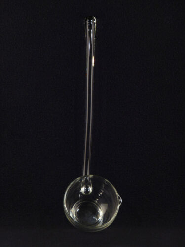 """Clear Glass Punch Bowl 13"""" LADLE  w/ Pour Spout"""