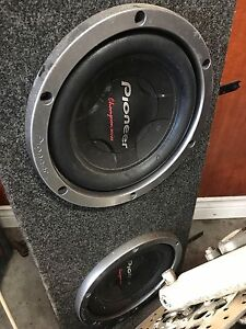 2 ten inch subs with amp
