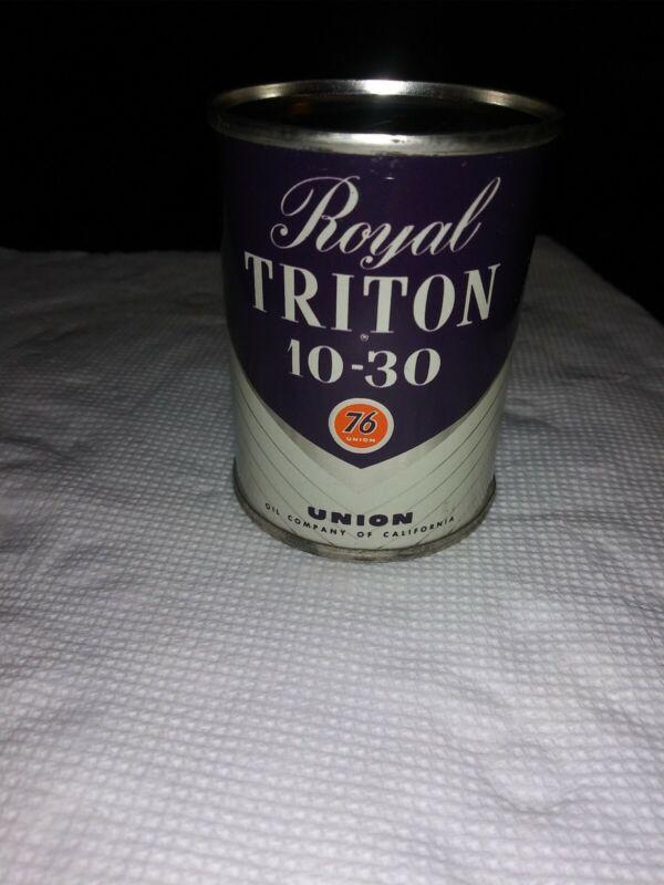 Union 76 Royal Triton Tin Advertising Gas & Oil Bank
