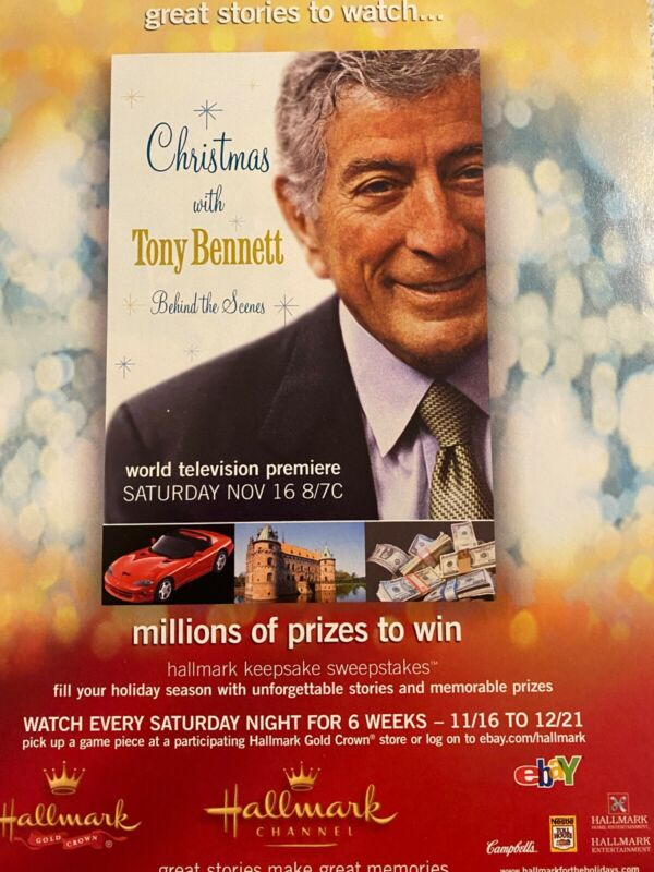 Tony Bennett, Christmas With, Full Page Vintage Promotional Ad