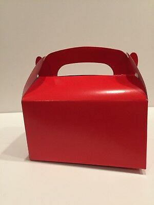 20 RED PARTY FAVOR TREAT BOXES BAG GREAT FOR BIRTHDAYS WEDDING BABY SHOWER - Baby Shower Bags