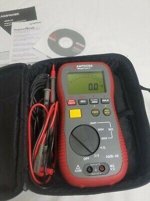 Amprobe Amb-45 Megatest1 Insulation Resistance Tester W Pc Interface
