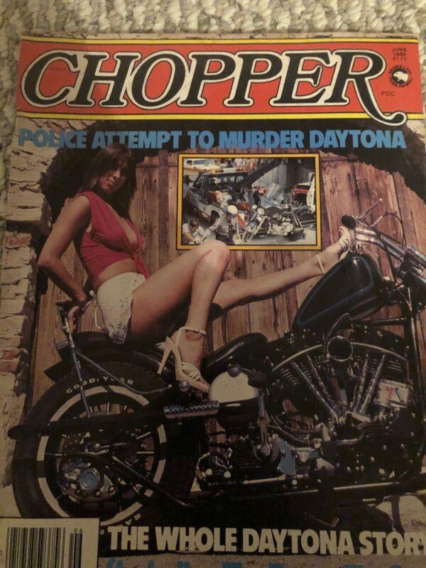 JUNE 1980 CHOPPER THE DIRTY BIKE BOOK MAGAZINE, BIKER CULTURE