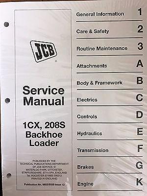 Jcb 1cx 208s Backhoe Loader Service Repair Workshop Manual