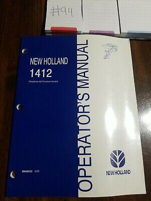 New Holland 1412 Mower Conditioner Operators Manual 42141210 498