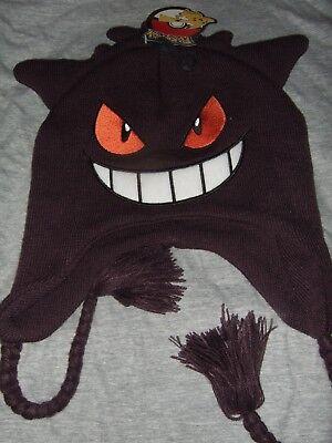 Pokemon Mad Gengar 3D Nintendo Anime Cartoon Character Ears Laplander Beanie Hat