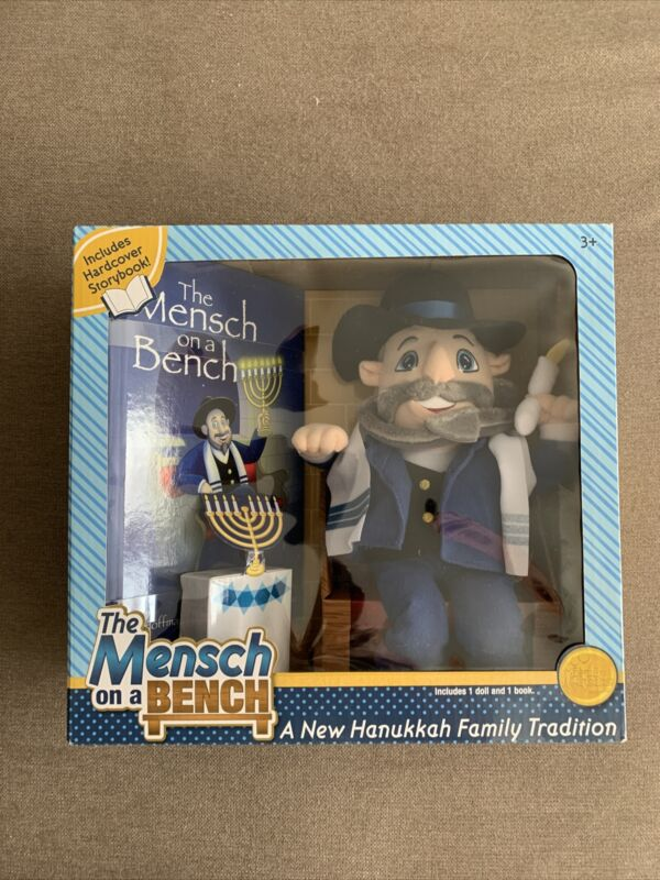 The Mensch on a Bench Hanukkah Gift Doll & Book New In Box