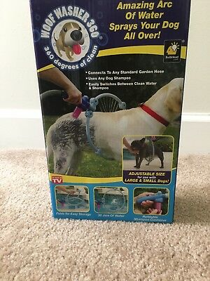 WOOF WASHER 360 DOG PUPPY ANIMAL BATH SHOWER HOSE SHAMPOO WATER WASH