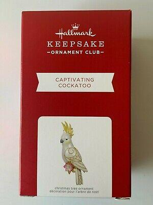 2021 Hallmark Keepsake Ornaments Captivating Cockatoo (CLUB MEMBER EXCLUSIVE)