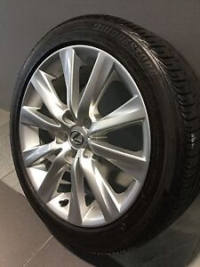 """LEXUS IS250 MY14 17"""" GENUINE ALLOY WHEELS AND TYRES Carramar Fairfield Area Preview"""