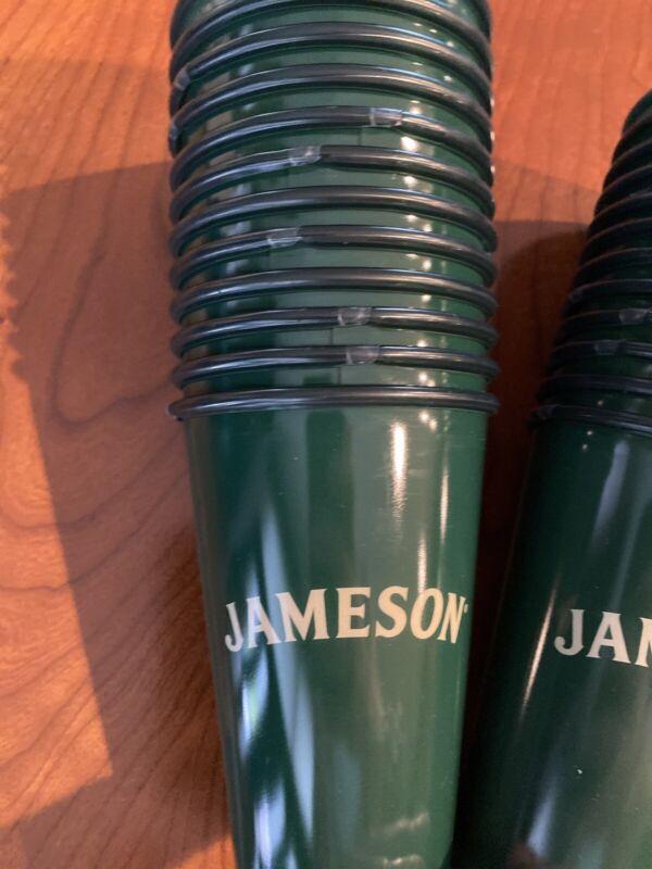 Set of 24 Green Jameson Irish Whiskey Plastic Cups