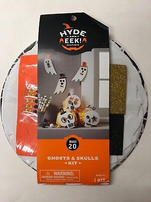 Halloween Foam craft kit for 20 party supply teacher ghosts and skulls - Ghost Crafts For Halloween