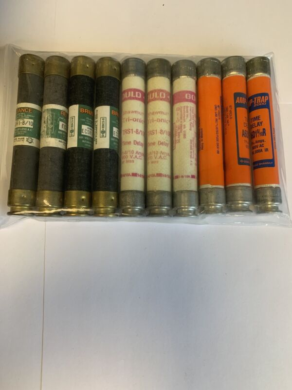 Lot Of 10 Assorted 1 8/10a 600v Fuses