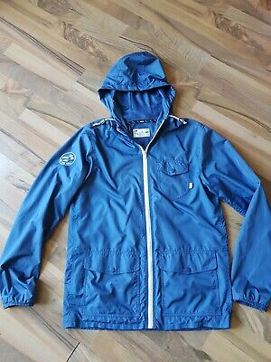 Vans fully lined windbreaker jacket size small fits medium in dusky blue