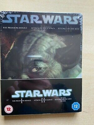 Star Wars: Prequel Trilogy Episodes I-III Blu Ray Steelbook. New. Sealed