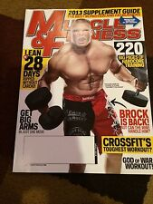 MUSCLE and FITNESS Magazine. April 2013. Brock Lesner. WWE ...