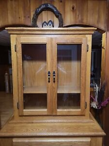Handmade solid oak China cabinet