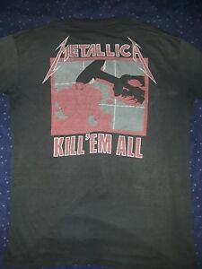 Vintage Original Black Metallica Kill 'Em All Shirt Sz M Good Condition 1987