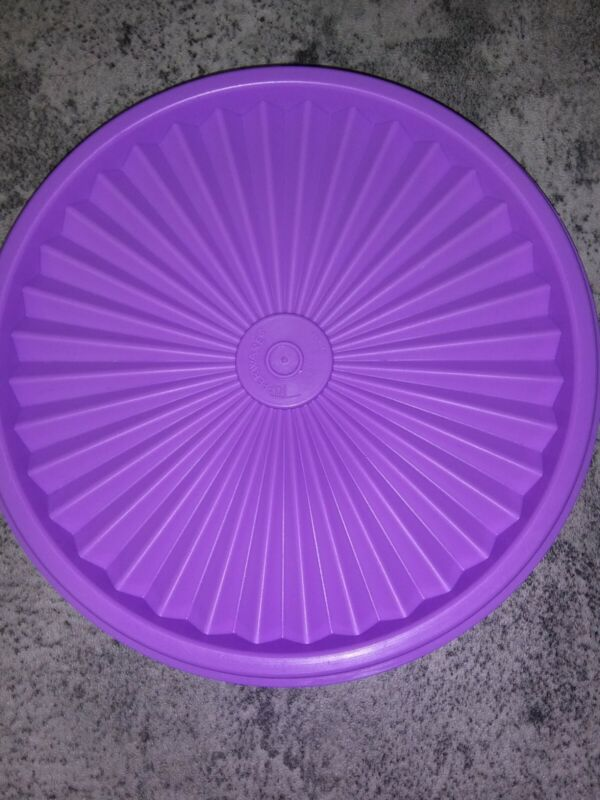 Tupperware #808 Purple Round Replacement Lid New
