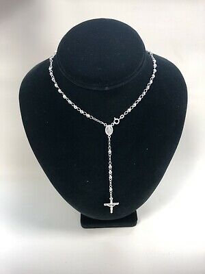 Catholic Sterling Silver 925 Rosary Beads Made In Italy, Rosario De Plata *NEW*